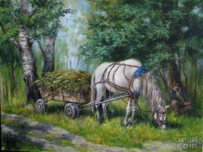 """""""В лесной тени"""" 30х40, холст, масло, 2009 г."""