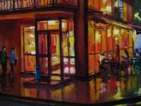 """""""Вечернее кафе"""" 2007, 20х40, холст, масло"""