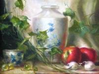 """""""Натюрморт с вазой"""" - сюжет на тему картины David Riedl """"White Vase"""" 20х30, холст, масло, 2013"""