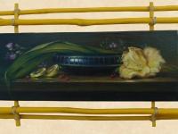 """Still life mood"", 40х20, oil, canvas, decorative frame 2014"