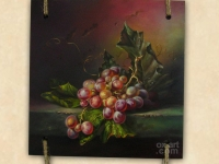 """The grapes"", 30х30, Oil on wood, decorative frame 2014"