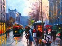 """Edouard Leon Cortes - """"Place De La Madeleine Paris"""""""