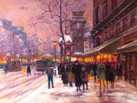 "Edouard Leon Cortes - ""Porte St. Denis"""