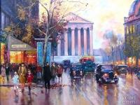 "Edouard Leon Cortes - ""Rue Royale Madeleine"""