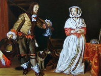 "Gabriel Metsu - ""The Huntsman and the Lady"""