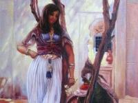 """Ferdinand Max Bredt - """"In a Courtyard Tunis"""""""