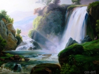 "Jean Charles Joseph Remond - ""Tivoli Waterfall"""