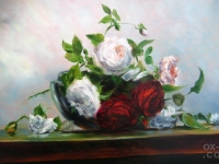 "Paul Raymond Seaton - ""Roses in Bowl"""