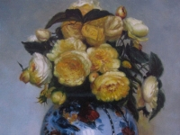 "Paul Raymond Seaton - ""Yellow Roses in Chinese Jar"""