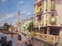 """Rubens Santoro - """"Canale della Guerra, Venice"""""""