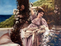 "Sir Lawrence Alma-Tadema - ""Thou Rose of all the Roses"""