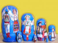 """m-71-a """"Украинский танец-4"""" 2019 г., первая сторона, 7 мест, темпера"""