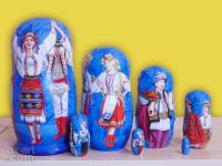 """m-71-b """"Украинский танец-4"""" 2019 г., вторая сторона, 7 мест, темпера"""
