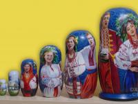 """m-72-a """"Украинская-песня"""" 2019 г., первая сторона, 7 мест, темпера"""