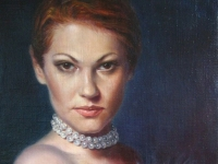 The actress V. Maryanchik, 20х30, oil, canvas, 2010