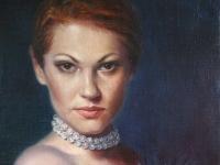 Актриса В. Марьянчик, холст, масло, 30х20, 2010