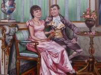 Романтический сюжет, холст, масло, 50х40, 2011