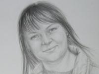 Оля, бумага, карандаш, 30х20, 2013
