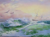 """Свободная копия на тему картины """"Морской пейзаж"""" Sorin Sorin,"""